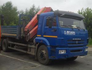 Бортовой автомобиль КАМАЗ 65117 с КМУ Palfinger PK 300002-K